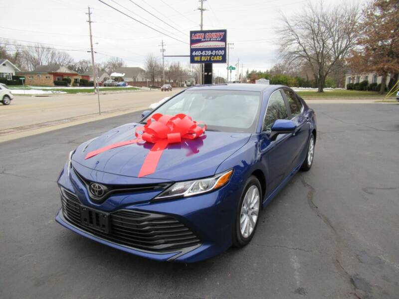 2018 Toyota Camry for sale at Lake County Auto Sales in Painesville OH