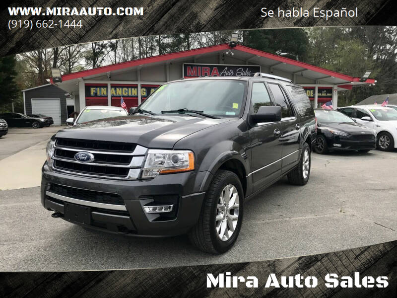 2015 Ford Expedition EL for sale at Mira Auto Sales in Raleigh NC