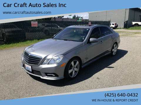 2011 Mercedes-Benz E-Class for sale at Car Craft Auto Sales Inc in Lynnwood WA