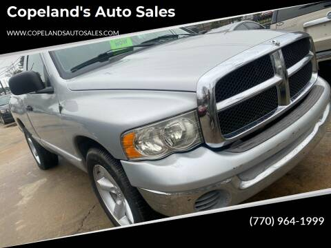 2002 Dodge Ram Pickup 1500 for sale at Copeland's Auto Sales in Union City GA