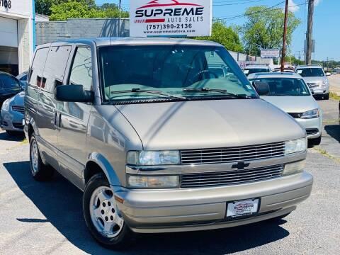 2004 Chevrolet Astro for sale at Supreme Auto Sales in Chesapeake VA