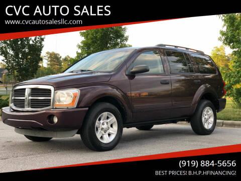 2005 Dodge Durango for sale at CVC AUTO SALES in Durham NC