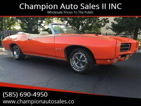 1969 Pontiac GTO for sale at Champion Auto Sales II INC in Rochester NY