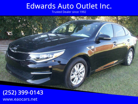 2016 Kia Optima for sale at Edwards Auto Outlet Inc. in Wilson NC