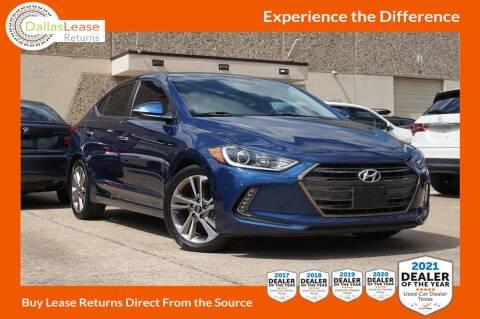 2017 Hyundai Elantra for sale at Dallas Auto Finance in Dallas TX