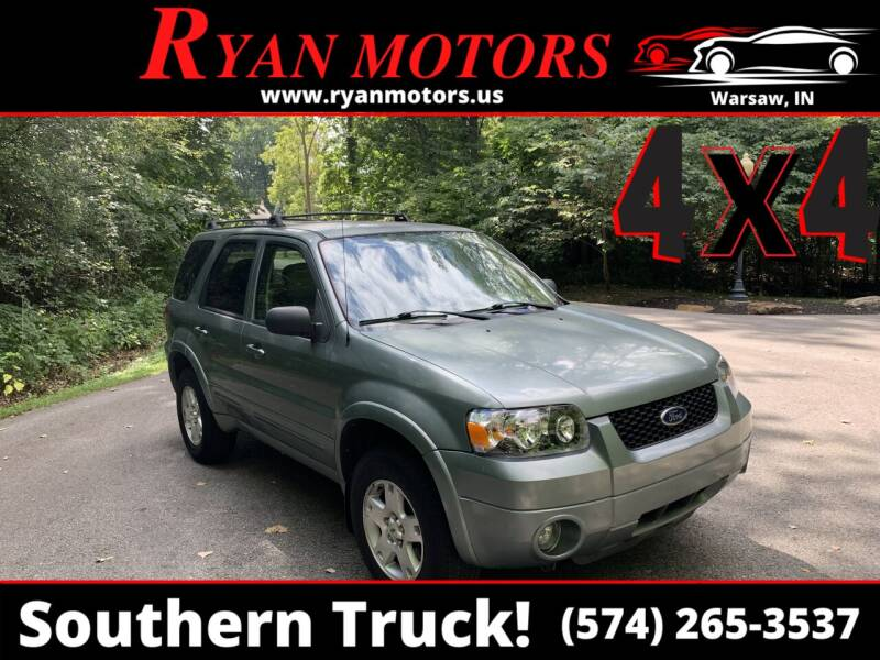 2006 Ford Escape for sale at Ryan Motors LLC in Warsaw IN