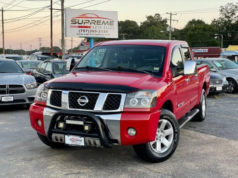 2006 Nissan Titan for sale at Supreme Auto Sales in Chesapeake VA