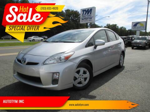 2010 Toyota Prius for sale at AUTOTYM INC in Fredericksburg VA