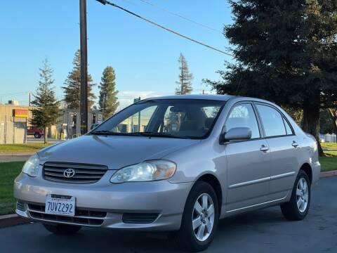 2003 Toyota Corolla for sale at AutoAffari LLC in Sacramento CA