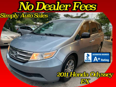 2011 Honda Odyssey for sale at Simply Auto Sales in Palm Beach Gardens FL