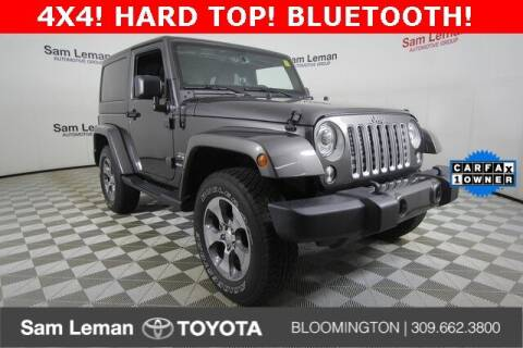 2018 Jeep Wrangler JK for sale at Sam Leman Toyota Bloomington in Bloomington IL