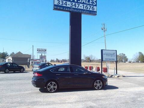 2020 Ford Fusion for sale at C & H AUTO SALES WITH RICARDO ZAMORA in Daleville AL