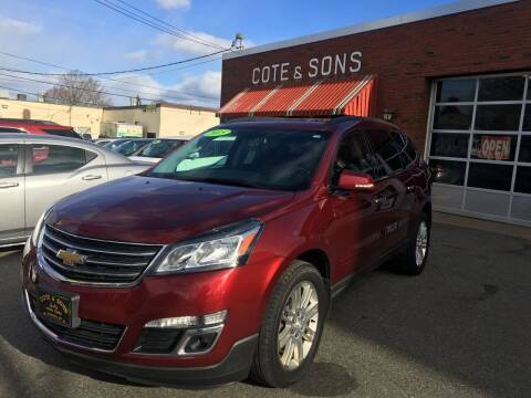 2015 Chevrolet Traverse for sale at Cote & Sons Automotive Ctr in Lawrence MA