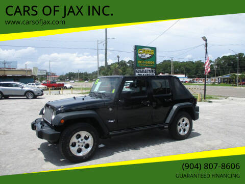 2015 Jeep Wrangler Unlimited for sale at CARS OF JAX INC. in Jacksonville FL