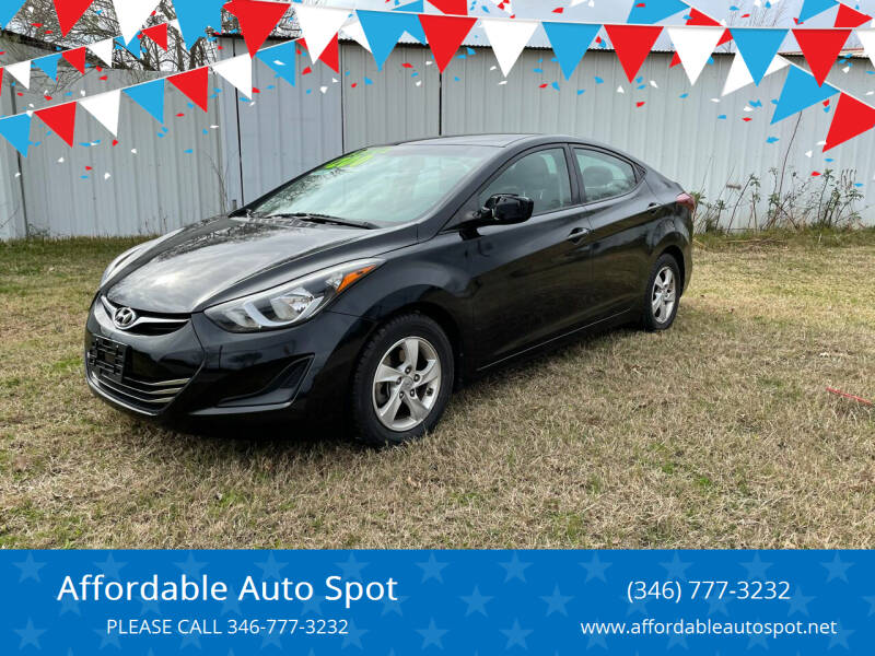 2014 Hyundai Elantra for sale at Affordable Auto Spot in Houston TX