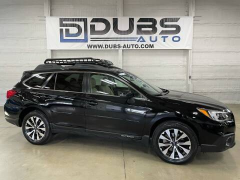 2015 Subaru Outback for sale at DUBS AUTO LLC in Clearfield UT