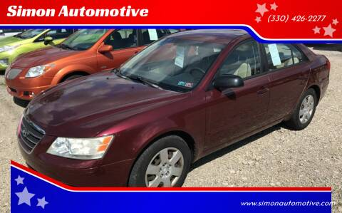 2009 Hyundai Sonata for sale at Simon Automotive in East Palestine OH