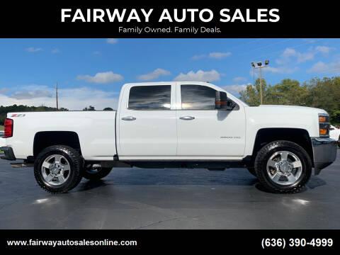 2018 Chevrolet Silverado 2500HD for sale at FAIRWAY AUTO SALES in Washington MO