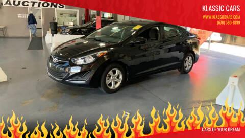 2015 Hyundai Elantra for sale at Klassic Cars in Lilburn GA