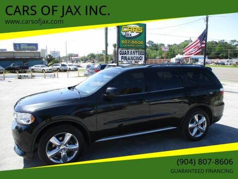 2013 Dodge Durango for sale at CARS OF JAX INC. in Jacksonville FL