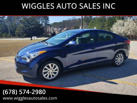 2011 Hyundai Elantra for sale at WIGGLES AUTO SALES INC in Mableton GA