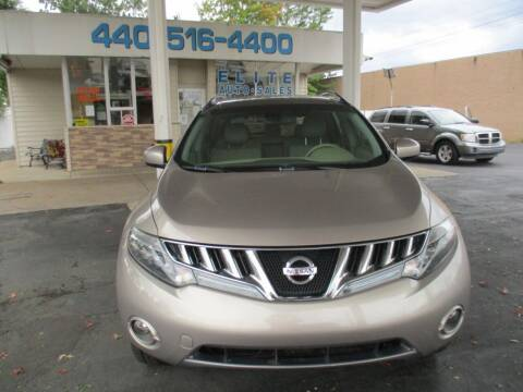 2009 Nissan Murano for sale at Elite Auto Sales in Willowick OH