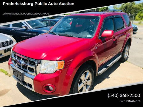 2008 Ford Escape for sale at FPAA in Fredericksburg VA