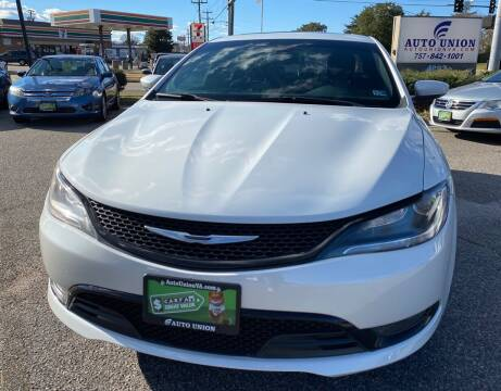 2015 Chrysler 200 for sale at Auto Union LLC in Virginia Beach VA
