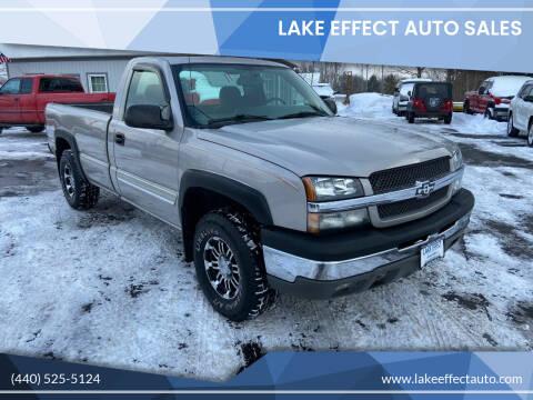 2004 Chevrolet Silverado 1500 for sale at Lake Effect Auto Sales in Chardon OH