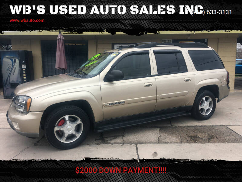 2004 Chevrolet TrailBlazer EXT for sale at WB'S USED AUTO SALES INC in Houston TX