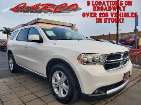 2012 Dodge Durango for sale at CARCO SALES & FINANCE in Chula Vista CA