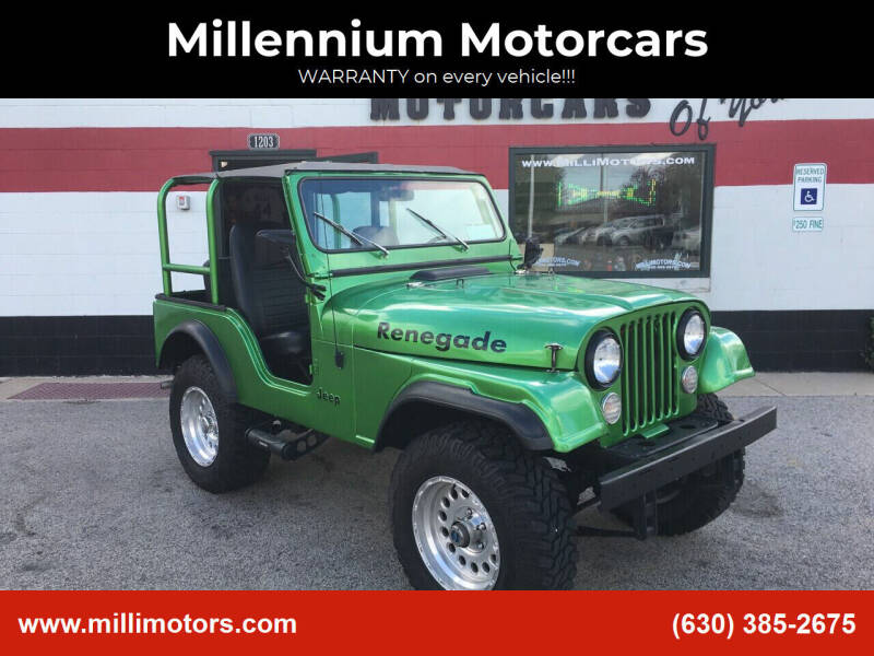 1978 Jeep CJ-5 for sale at Millennium Motorcars in Yorkville IL