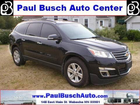 2013 Chevrolet Traverse for sale at Paul Busch Auto Center Inc in Wabasha MN
