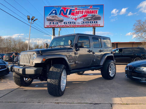 2016 Jeep Wrangler Unlimited for sale at ANF AUTO FINANCE in Houston TX