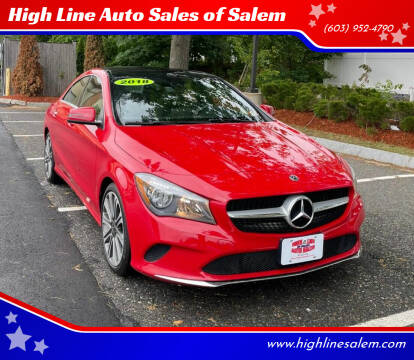 2018 Mercedes-Benz CLA for sale at High Line Auto Sales of Salem in Salem NH