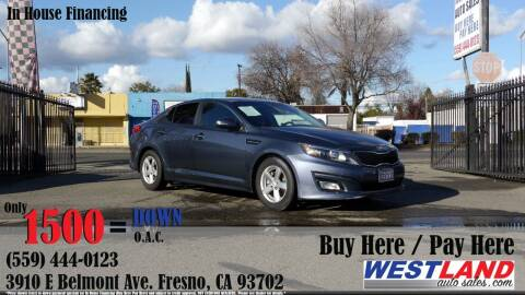 2015 Kia Optima for sale at Westland Auto Sales in Fresno CA