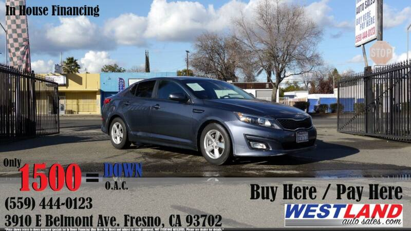2015 Kia Optima for sale at Westland Auto Sales in Fresno CA
