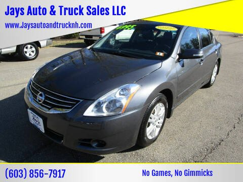 2012 Nissan Altima for sale at Jays Auto & Truck Sales LLC in Loudon NH