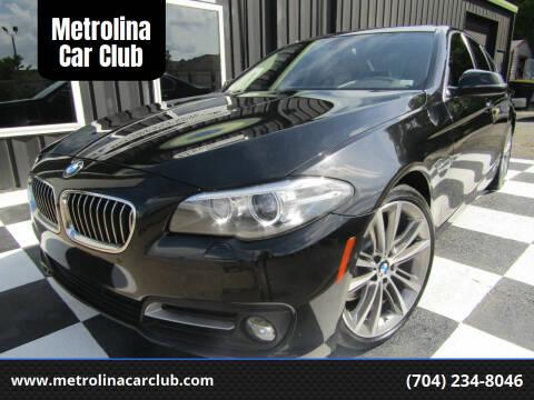 2015 BMW 5 Series for sale at Metrolina Car Club in Matthews NC