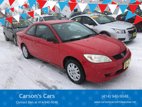 2005 Honda Civic for sale at Carson's Cars in Milwaukee WI