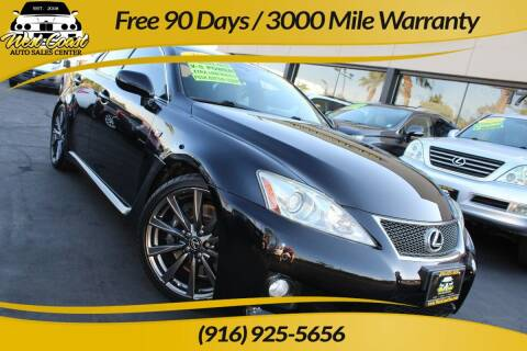 2008 Lexus IS F for sale at West Coast Auto Sales Center in Sacramento CA
