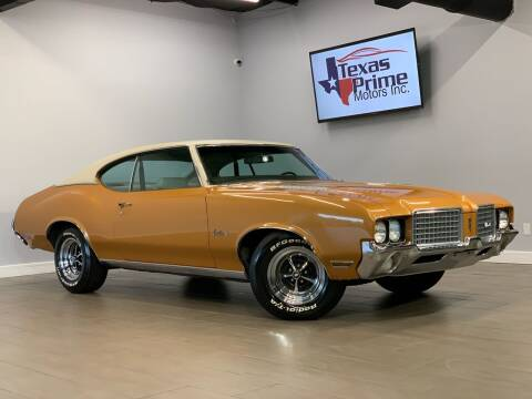 1972 Oldsmobile Cutlass for sale at Texas Prime Motors in Houston TX
