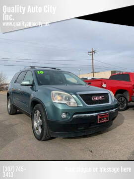 2010 GMC Acadia for sale at Quality Auto City Inc. in Laramie WY