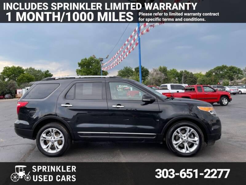 2015 Ford Explorer for sale at Sprinkler Used Cars in Longmont CO