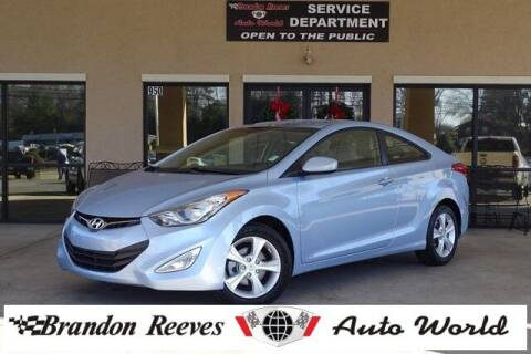 2013 Hyundai Elantra Coupe for sale at Brandon Reeves Auto World in Monroe NC