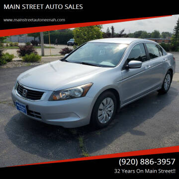 2009 Honda Accord for sale at MAIN STREET AUTO SALES in Neenah WI