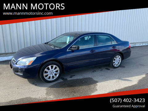2007 Honda Accord for sale at MANN MOTORS in Albert Lea MN