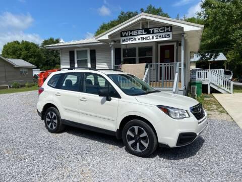 2018 Subaru Forester for sale at Wheel Tech Motor Vehicle Sales in Maylene AL