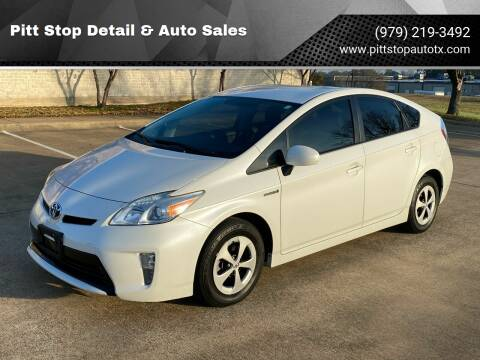 2013 Toyota Prius for sale at Pitt Stop Detail & Auto Sales in College Station TX