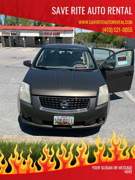 2008 Nissan Sentra for sale at Save Rite Auto Rental in Randallstown MD